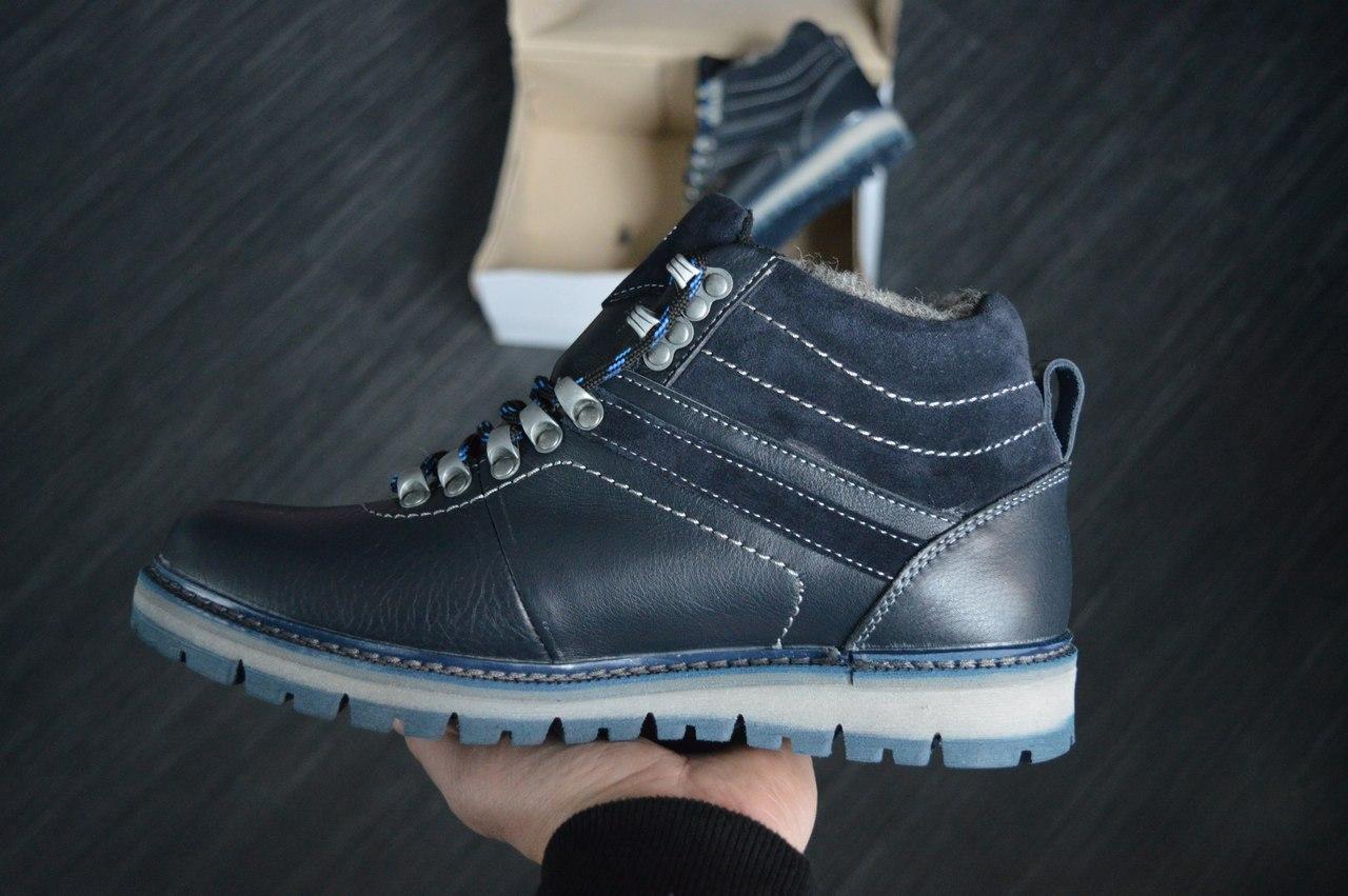 Мужские ботинки Lacoste зимние (черные), ТОП-реплика - Интернет-магазин v d64e6872939