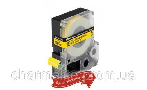 Картридж с лентой Epson LK5YBW принтеров LW-400/400VP/700 Strng adh Blk/Yell 18mm/9m
