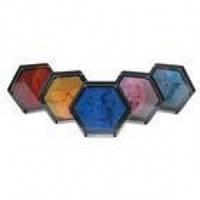 Гвозди ART-PIN Гексагон пластик 22х19 см разных цветов