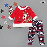 """Новогодний костюм """"Рождественский олень"""" для девочки. 74, 80, 86 см"""