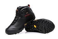 Зимние мужские ботинки Merrell black смехом