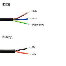 Блок питания 100W Professional для светодиодной ленты DC12 WBP-100 8,3А герметичный, фото 3