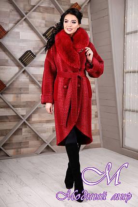 Шикарное женское зимнее пальто (р. 44-54) арт. 1089 Тон 1, фото 2