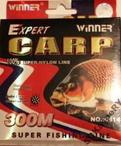Леска рыболовная Эксперт Карп Winner, 0,30/300м.