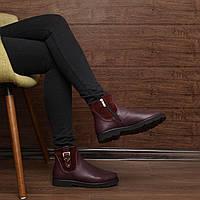Женские зимние ботинки на низком каблуке модель 7140.2