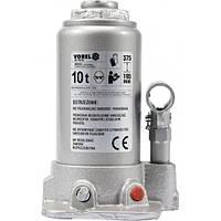Домкрат гидравлический бутылочный F=10 т h=190-365 мм VOREL-80052