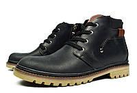 Черные зимние мужские кожаные ботинки ANSER на меху ( шерсть ), фото 1