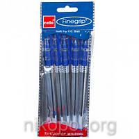 Ручка масляная Cello Finegrip синяя, резиновый грип