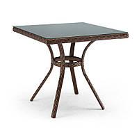 Блюз квадратный столик из ротанга