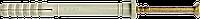 Дюбель UCX с ударным шурупом 5*25, нейлон , с цилиндрическим буртиком