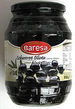 Оливки черные с косточкой Baresa Olive, 950 гр.