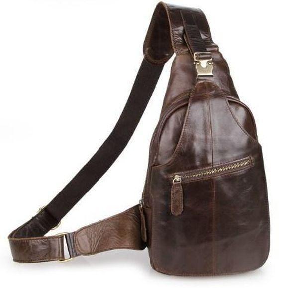 b0d86b245bbf Практичная мужская сумка-рюкзак, кожаная TIDING BAG, 2467C коричневый -  SUPERSUMKA интернет магазин