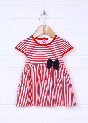 Детское платье летнее в полоску на кнопках