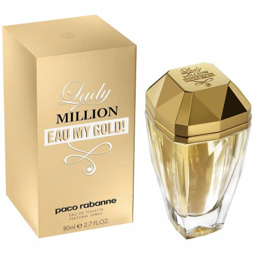 Женская парфюмерная вода Paco Rabanne Lady Million Eau My Gold, 80 мл