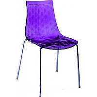 Ice (Айс) стул пластиковый прозрачный фиолетовый