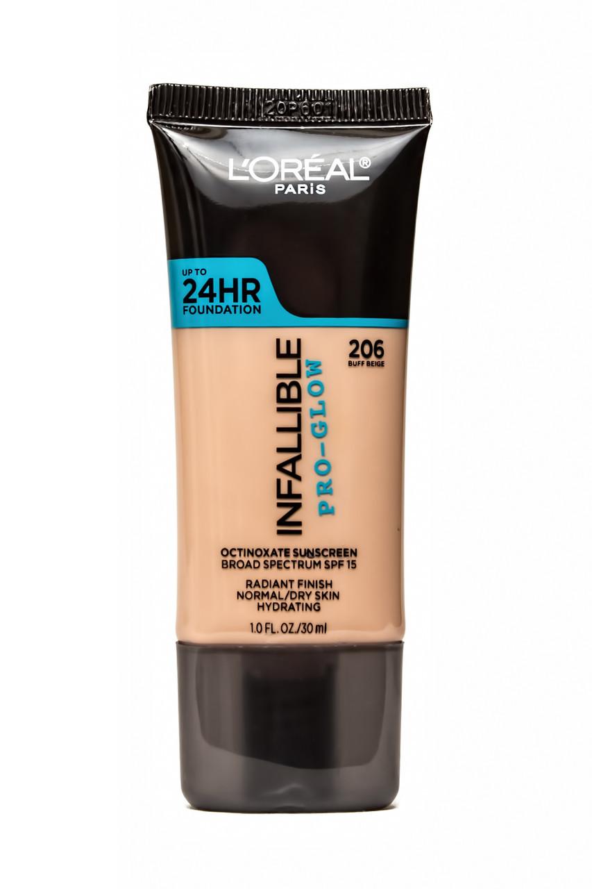 Тональный крем для лица L'Oreal Infallible Pro-Glow 24HR Foundation 30 ml.