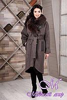 Элегантное женское зимнее пальто (р. 44-54) арт. 1089 Тон 12