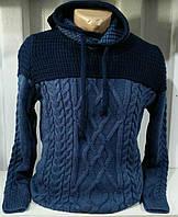 Мужской свитер нарядный индиго синий