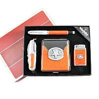 Подарочный набор Портсигар/Ручка/Брелок/Нож №ZZ-23