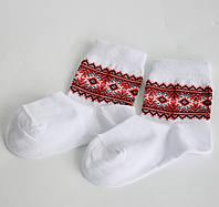 Носки детские вязанные с украинским орнаментом Вышиванка 5-6 лет (18), фото 1