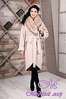 Женское элегантное зимнее пальто (р. 44-54) арт. 1089 Тон 10