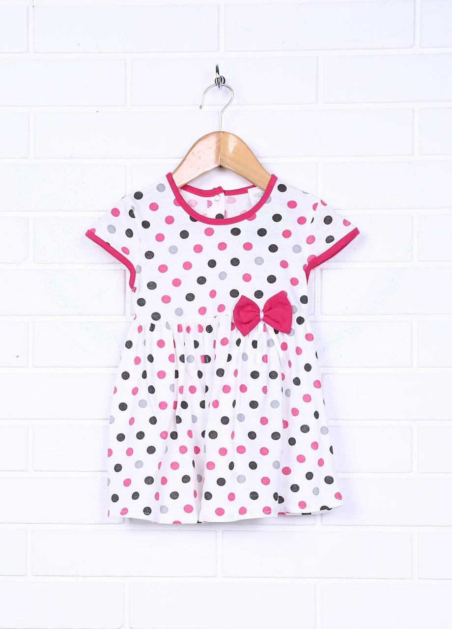 Детское платье летнее в горошек на кнопках