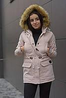Зимняя женская куртка парка Node beige/pink parka