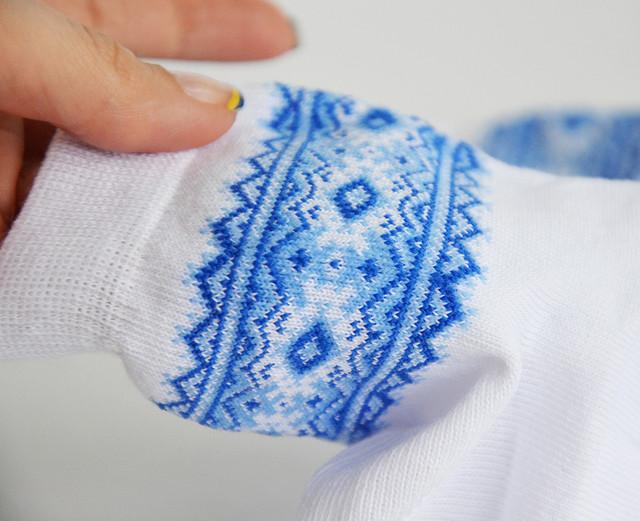 вязаные мальчуковые носки с орнаментом