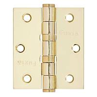 Петля дверная Fuxia Петля 75*2,5 (2 подш, сталь) пол.латунь универсальная