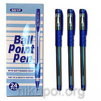Ручка масляная Original 501P синяя, резиновый грип