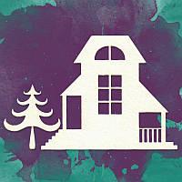 Чипборд набор TM Lana Odis - Двухэтажный дом с ёлкой, 48x58 см, 2 элемента
