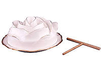 Блюдо для блинов с палочкой Lefard Троянда 22 см, 590-020