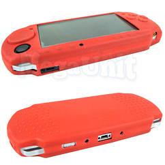 Силиконовый чехол для Sony PSP 3000/2000 Красный