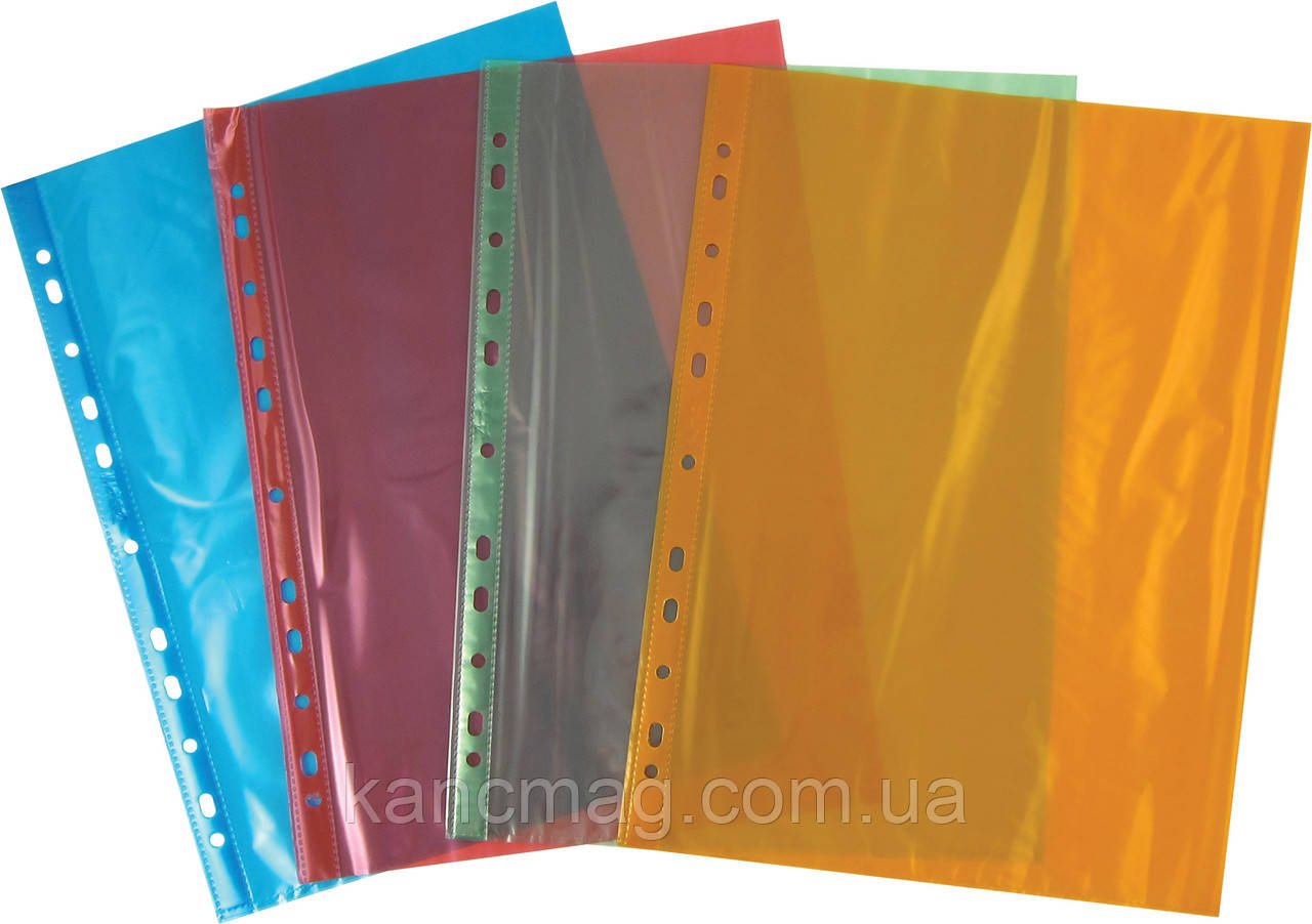 Файл А4+ глянцевый 40мк (100шт) цветной