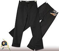 Джинсы мужские прямые утеплённые с косым карманом чёрного цвета
