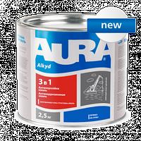 """Антикорозійна ґрунт-емаль Aura """"3 в 1"""" 2,5 кг чорна"""