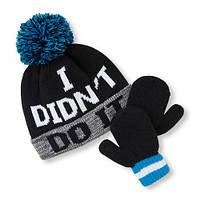 Детская зимняя флисовая шапка и варежки для мальчика The Childrens Place (США)