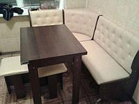 Кухонный уголок Адмирал с раскладным столом и табуретами. Честная цена!