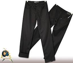 Джинсы брюки мужские прямые утеплённые Le Gutti чёрного цвета 32 размер