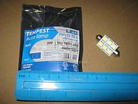 Лампа LED софитная C5W 24V T11x39-S8.5 (6 SMD size5050) WHITE   (арт. tmp-14T11-24V)