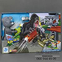 Игровой Автотрек Горилла 4 металлические машинки, в коробке