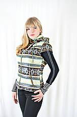 Модная жилетка женская с карманами и капюшоном, фото 3