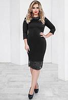 Черное платье с кружевом -ЯСМИНА-