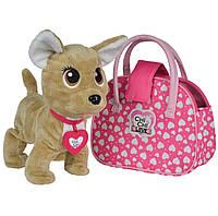 Собачка Чи Чи Лав Счастливчик Chi Chi Love Чихуахуа Фешн Звезда с сумочкой и подвесом светящимся в темноте