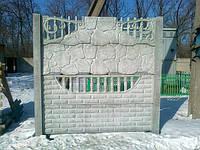 Еврозабор (плиты заборные в асортименте) сплошные и ажурные