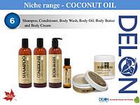 Кондиционер для сухих волос с кокосовым маслом 354 мл, Delon