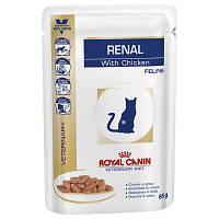 Роял Канин Ренал Royal Canin Renal влажный корм для кошек диета ХПН с соусом курица  85 г
