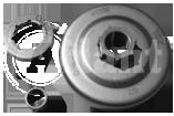 Зірка провідна,(тарілка зчеплення), до бензопили Husgvarna 136-141 зі знімною зірочкою Atlant
