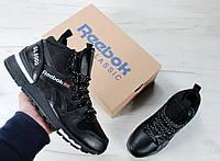 Зимние кроссовки Reebok GL6000 High black. Топ качество. Живое фото! (рибок, рибок гл6000)
