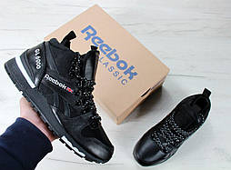 Зимние кроссовки Reebok GL6000 High black. Топ качество. Живое фото! (Реплика ААА+)